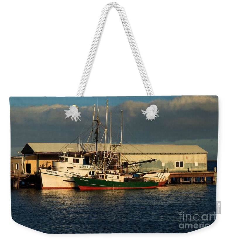 Port Angles Weekender Tote Bag featuring the photograph Ready For The Day by Adam Jewell