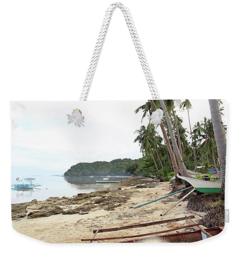 Water's Edge Weekender Tote Bag featuring the photograph Ready To Fishing by Vuk8691