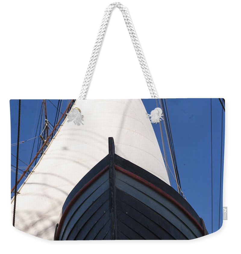 Dingy Weekender Tote Bag featuring the photograph Ready To Save by Scott Campbell