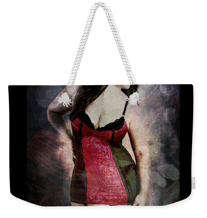 Curvy Weekender Tote Bag featuring the digital art Real Woman Real Curves by Absinthe Art By Michelle LeAnn Scott