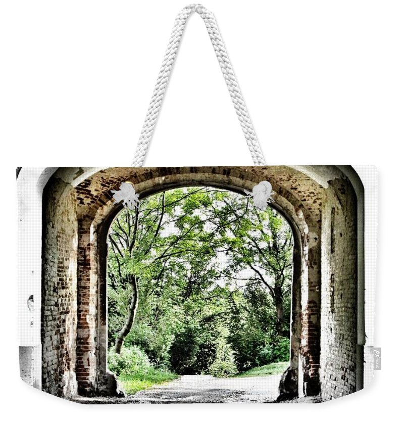 Arch Weekender Tote Bag featuring the photograph Realization by Marianna Mills