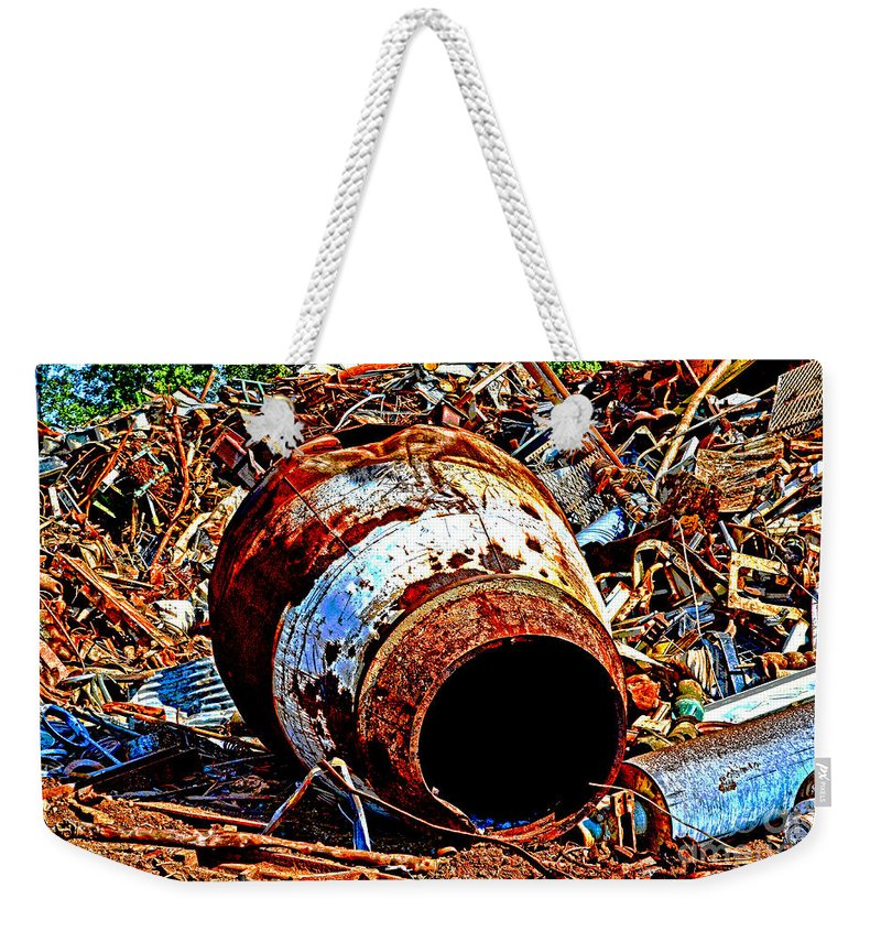 Arcitectures Weekender Tote Bag featuring the photograph Really Rusty by Debbie Portwood