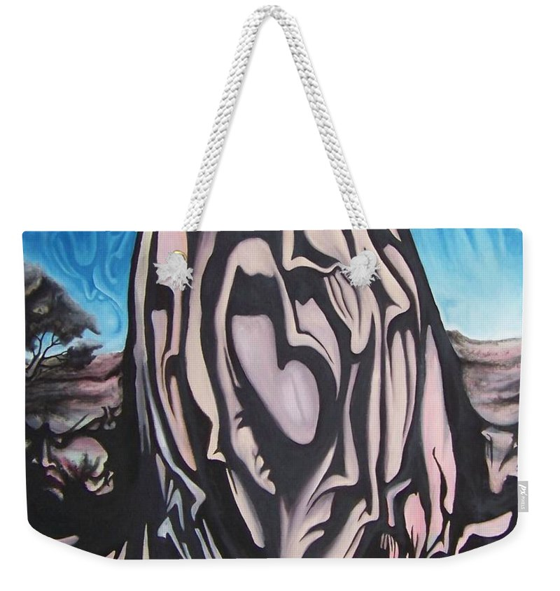 Tmad Weekender Tote Bag featuring the painting Recluse by Michael TMAD Finney