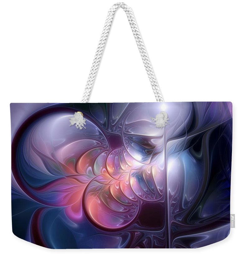 Feactal Weekender Tote Bag featuring the digital art Recollections Of The Revenant by Casey Kotas