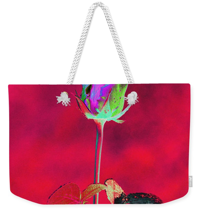 Red Weekender Tote Bag featuring the digital art Red Beauty by Carol Lynch