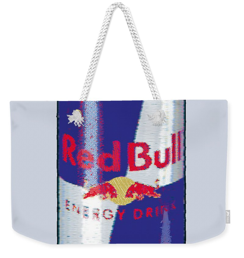 Red Bull Weekender Tote Bag featuring the painting Red Bull Ode To Andy Warhol by Tony Rubino