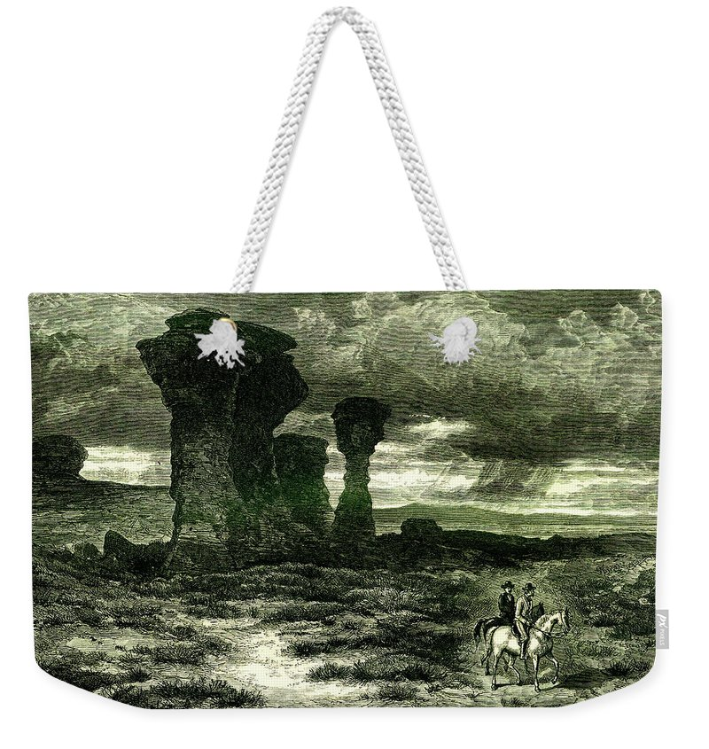 Scenics Weekender Tote Bag featuring the digital art Red Buttes, Laramie Plains, Wyoming by Nicoolay