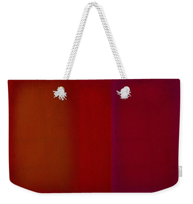 Rothko Weekender Tote Bag featuring the painting Red by Charles Stuart