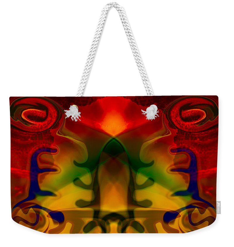 Abstract Weekender Tote Bag featuring the painting Red-eyes Black Dragon by Omaste Witkowski
