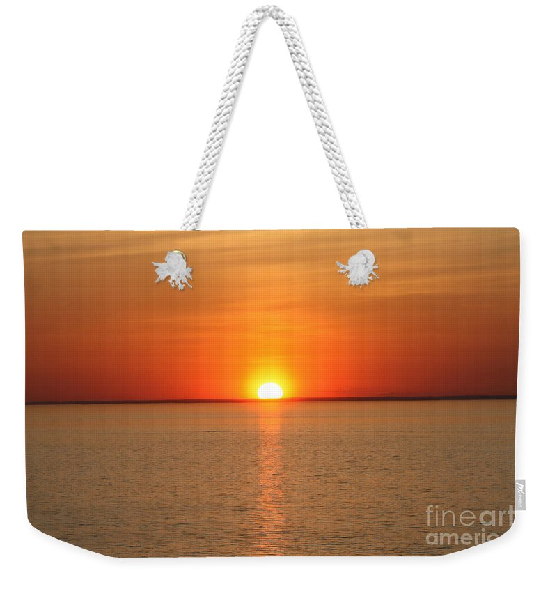 Red Hot Sunset Weekender Tote Bag featuring the photograph Red-hot Sunset by John Telfer