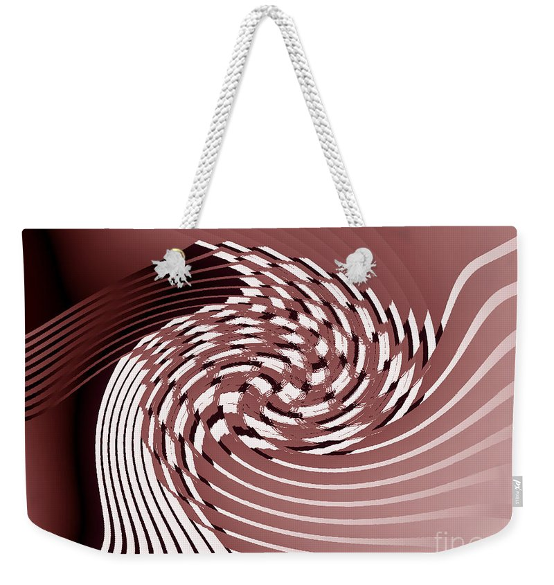 Fractal Weekender Tote Bag featuring the photograph Red Malestrom by Mother Nature