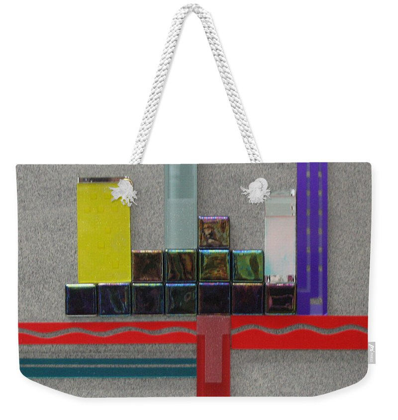 Assemblage Weekender Tote Bag featuring the relief Red River City by Elaine Booth-Kallweit