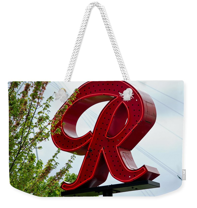 Rainier R Weekender Tote Bag featuring the photograph Red by Tikvah's Hope