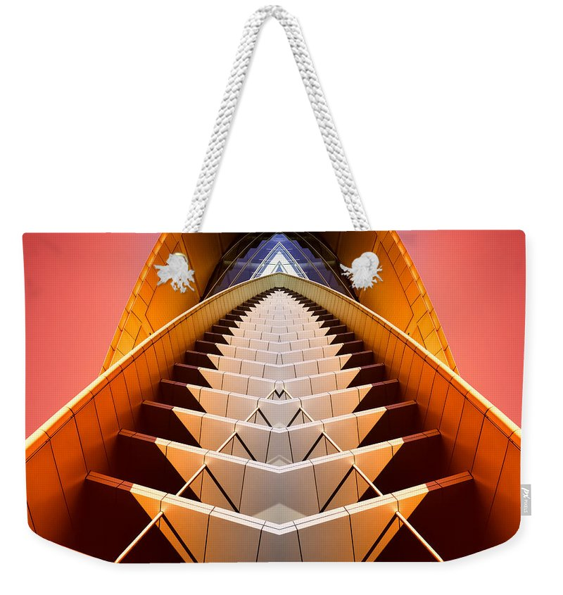 Abstract Weekender Tote Bag featuring the photograph Red Shift by Wayne Sherriff