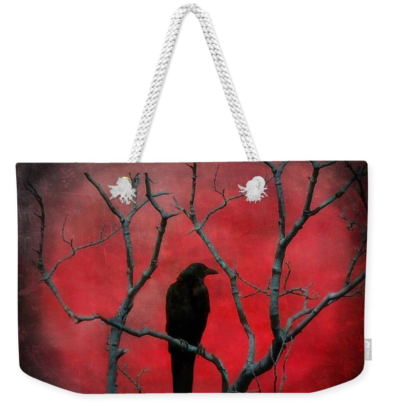 Red Weekender Tote Bag featuring the photograph Red Velvet by Gothicrow Images