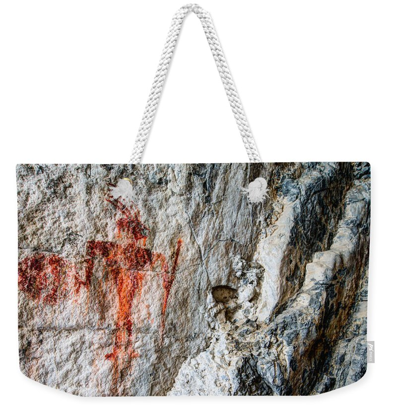 Red Warrior Weekender Tote Bag featuring the photograph Red Warrior by Chad Dutson