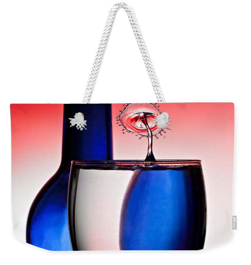 Water Weekender Tote Bag featuring the photograph Red White And Blue Reflections And Refractions by Susan Candelario