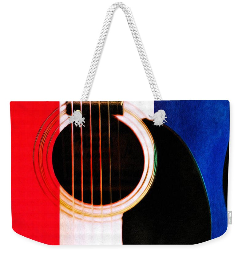 Red White And Blues Weekender Tote Bag featuring the photograph Red White And Blues by Bill Cannon