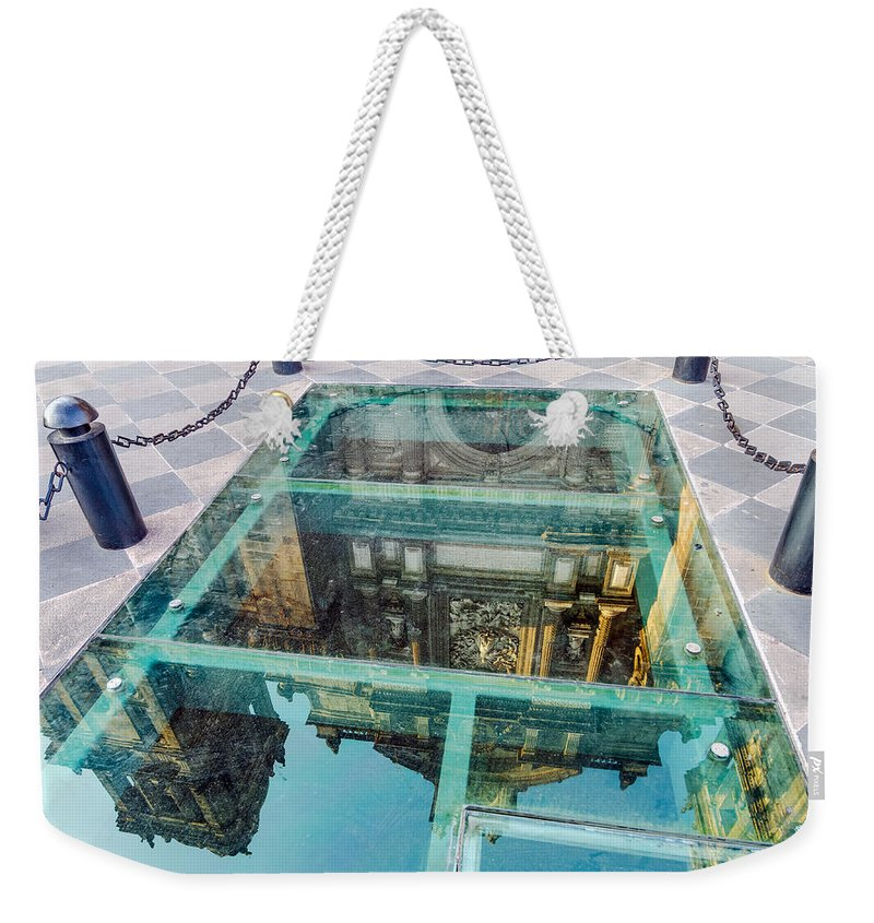 Reflection Weekender Tote Bag featuring the photograph Reflected Cathedral by Jess Kraft