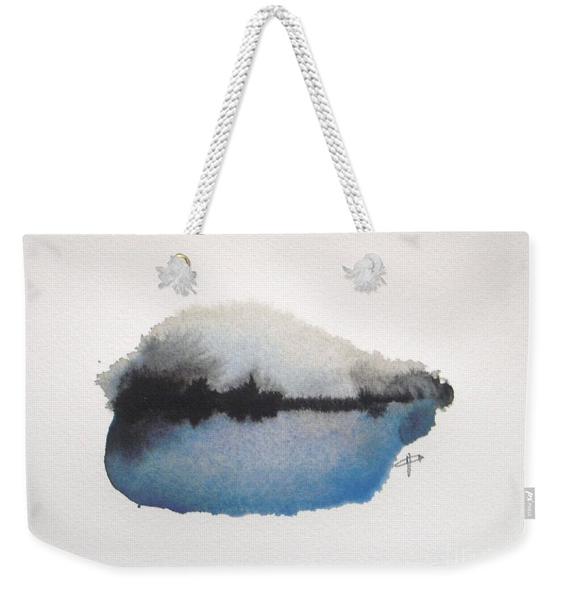 Abstract Weekender Tote Bag featuring the painting Reflection in the lake by Vesna Antic