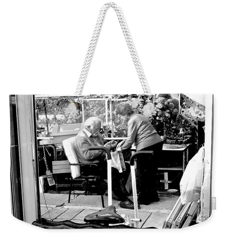 Weekender Tote Bag featuring the photograph Reflection Into The Future - Retired In My Haven by Donato Iannuzzi