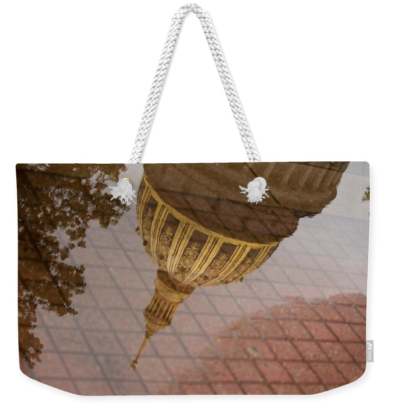 West Virginia Weekender Tote Bag featuring the photograph reflection of WV by Shane Holsclaw