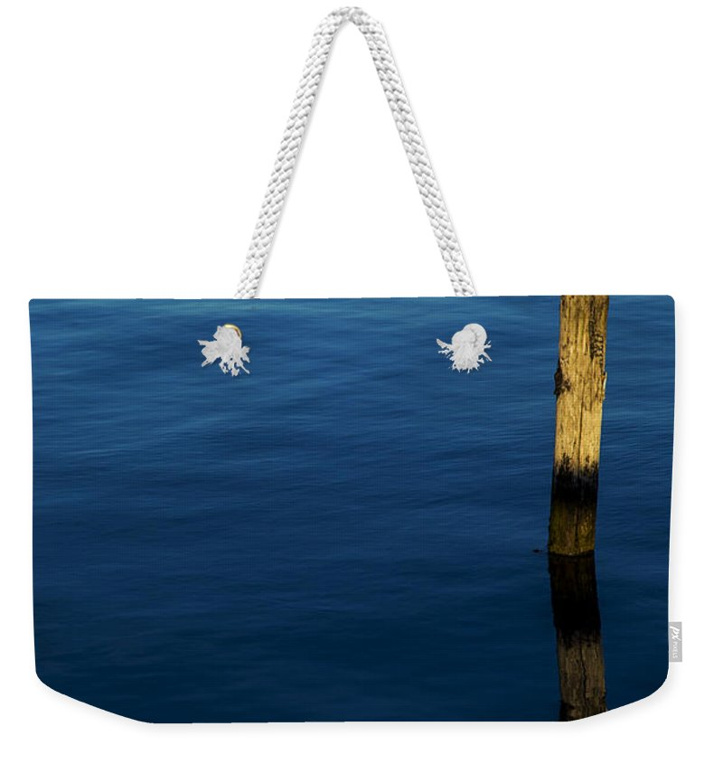 Dusk Weekender Tote Bag featuring the photograph Reflections At Dusk by Karol Livote
