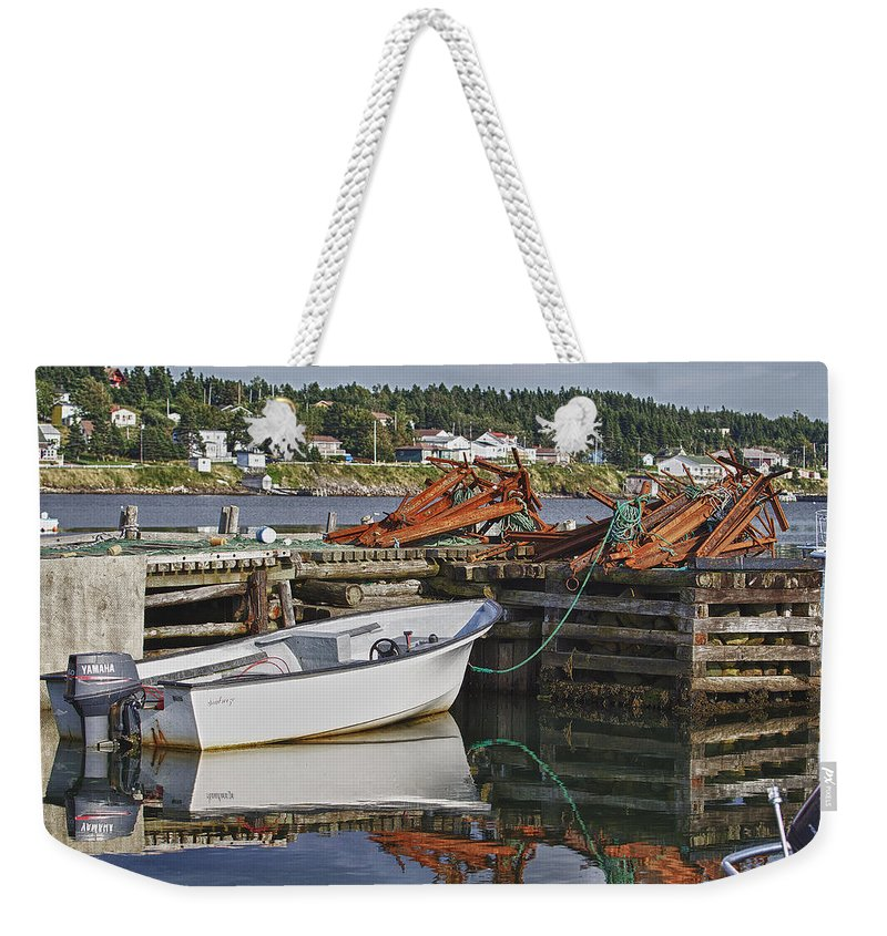 Dildo Weekender Tote Bag featuring the photograph Reflections by Eunice Gibb