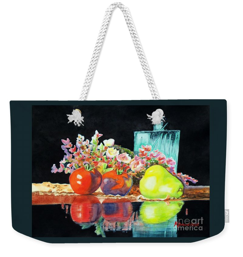 Painting Weekender Tote Bag featuring the painting Reflections In Color by Kathy Braud