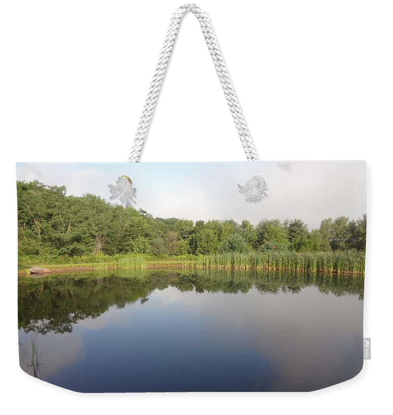 Reflection Weekender Tote Bag featuring the photograph Reflections Of A Still Pond by Michael Porchik