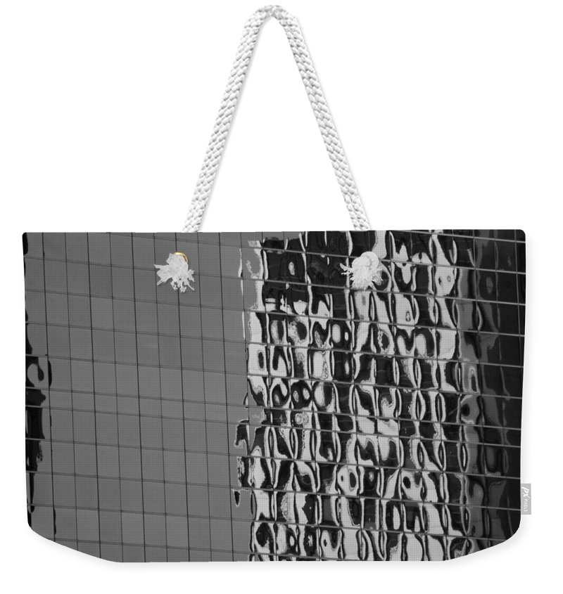 Scenic Weekender Tote Bag featuring the photograph Reflections Of Architecture In Balck And White by Rob Hans