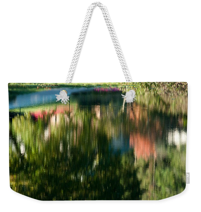 Optical Playground By Mp Ray Weekender Tote Bag featuring the photograph Reflections Of Colours by Optical Playground By MP Ray