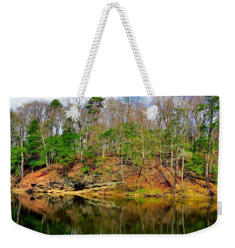 Elder Weekender Tote Bag featuring the photograph Reflections Of Earth by Art Dingo