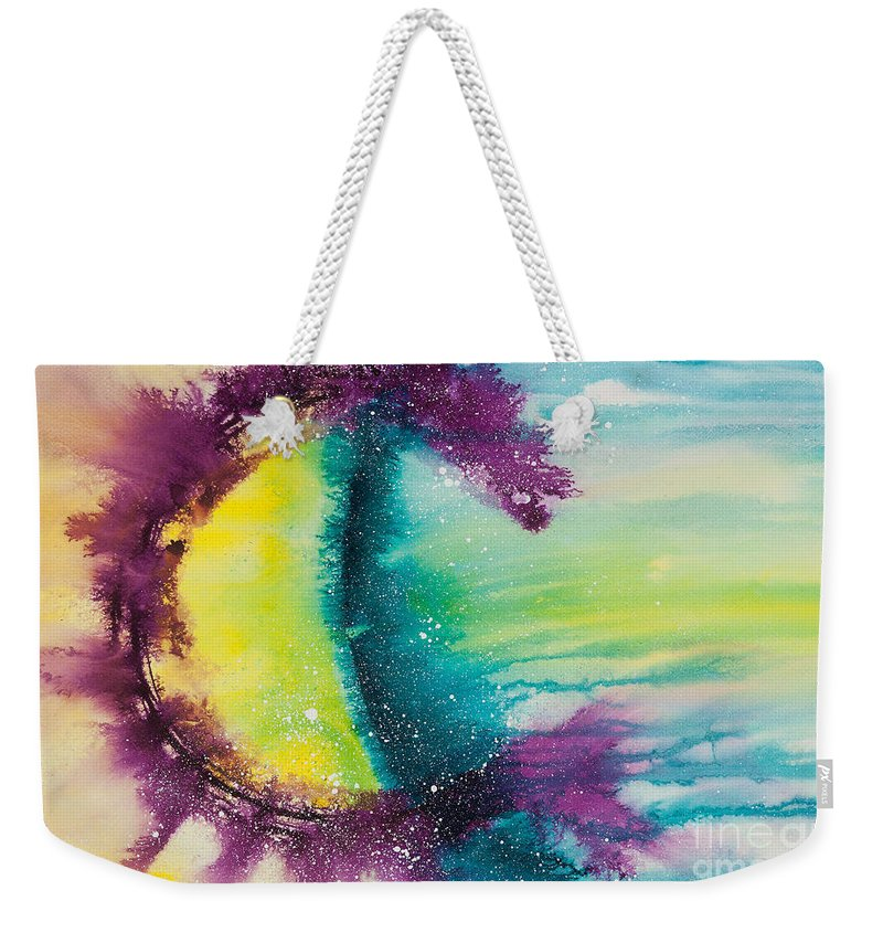 Ilisa Millermoon Weekender Tote Bag featuring the painting Reflections Of The Universe No. 2146 by Ilisa Millermoon