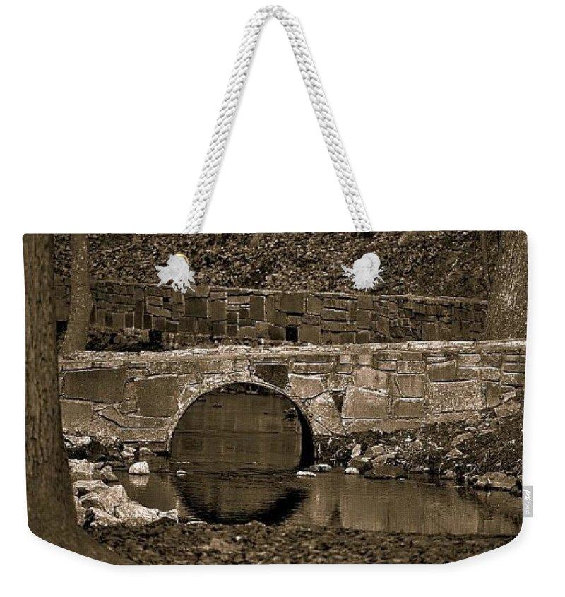Bridge Weekender Tote Bag featuring the photograph Reflective Bridge by Tara Potts