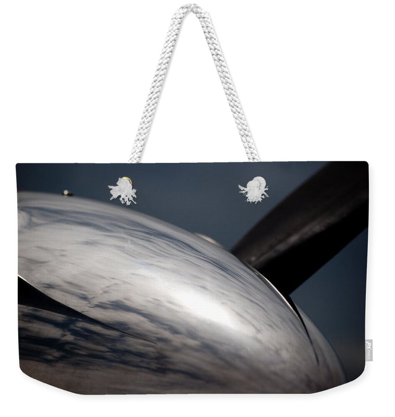 Pilatus Pc12 Weekender Tote Bag featuring the photograph Reflective Power by Paul Job