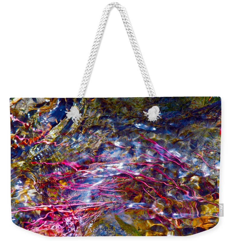 Water Weekender Tote Bag featuring the photograph Refraction by Brent Dolliver