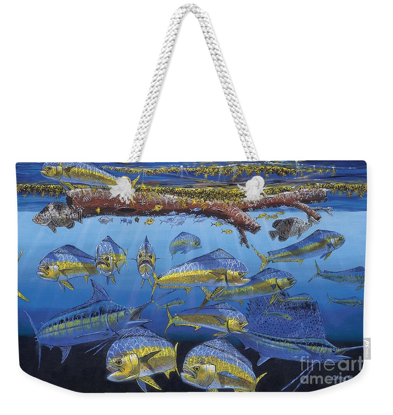 Fish Weekender Tote Bag featuring the painting Refuge Off00110 by Carey Chen