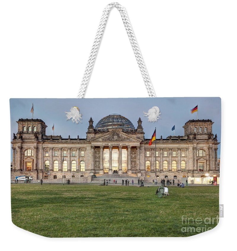 Reichstag Weekender Tote Bag featuring the photograph Reichstag Berlin Germany by Julie Woodhouse