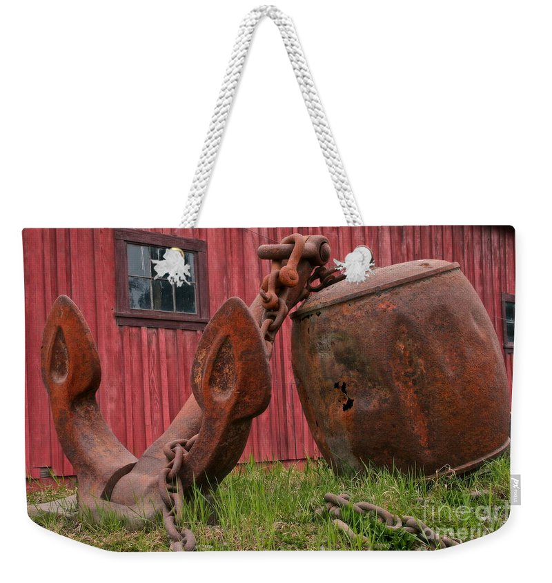 Anchor Weekender Tote Bag featuring the photograph Relic by Rick Monyahan