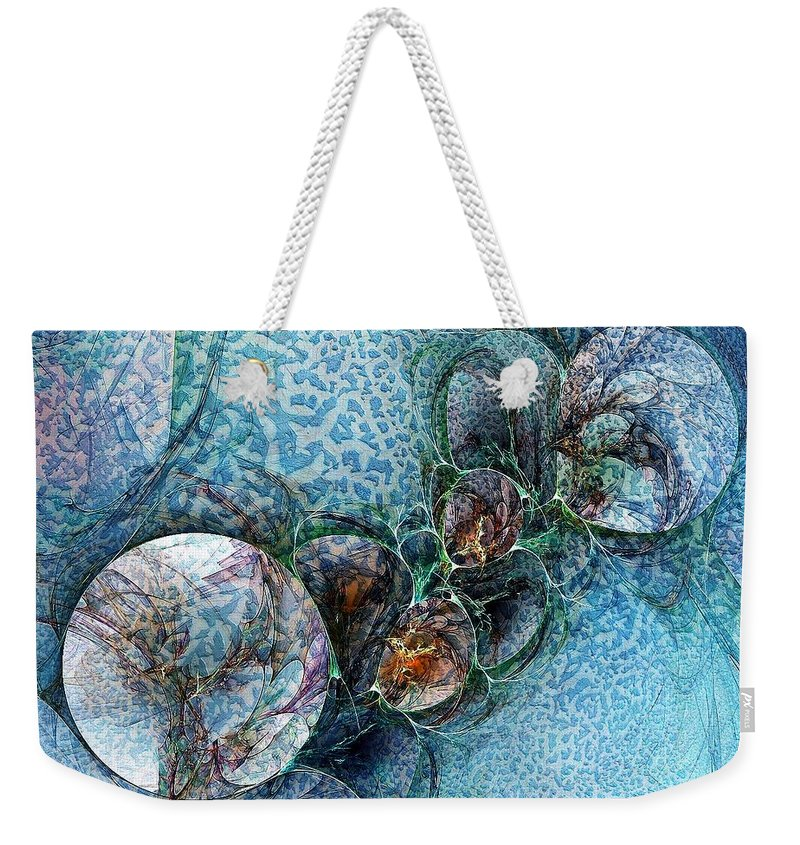 Digital Art Weekender Tote Bag featuring the digital art Remains Of A Mosaic by Amanda Moore