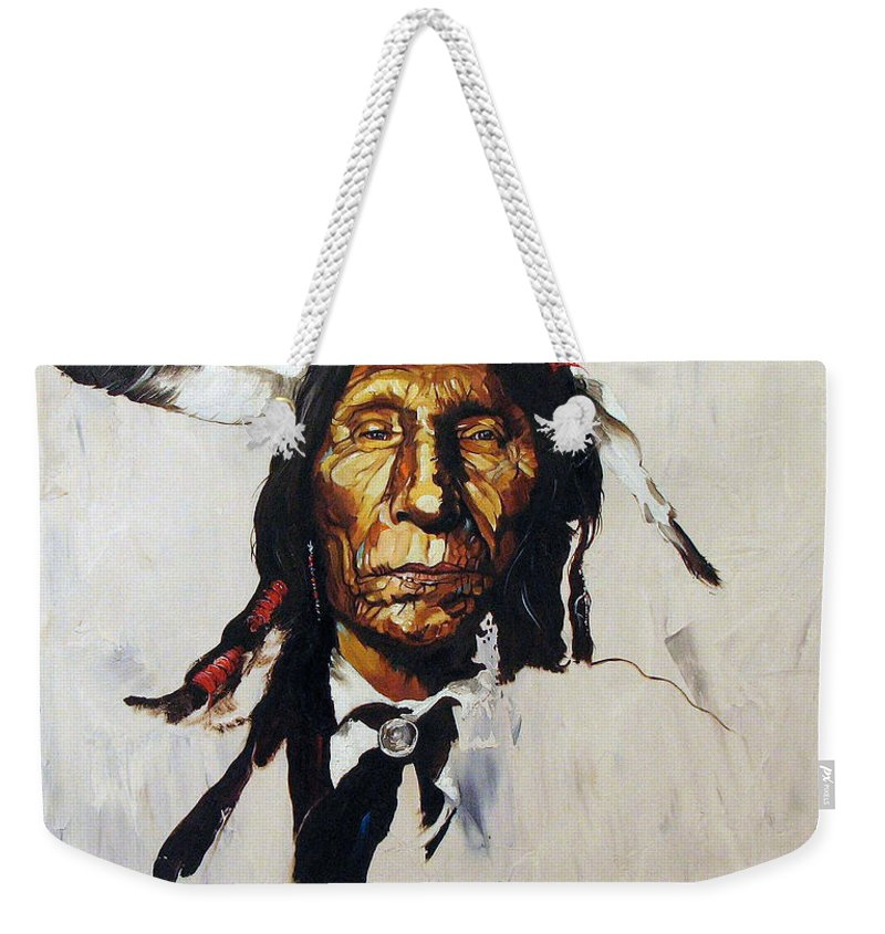 Southwest Art Weekender Tote Bag featuring the painting Remember by J W Baker