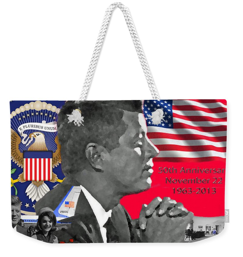 Jackie Weekender Tote Bag featuring the photograph Remembering Camelot by Jost Houk