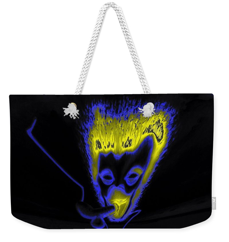 Genio Weekender Tote Bag featuring the mixed media Rendezvous By Night by Genio GgXpress