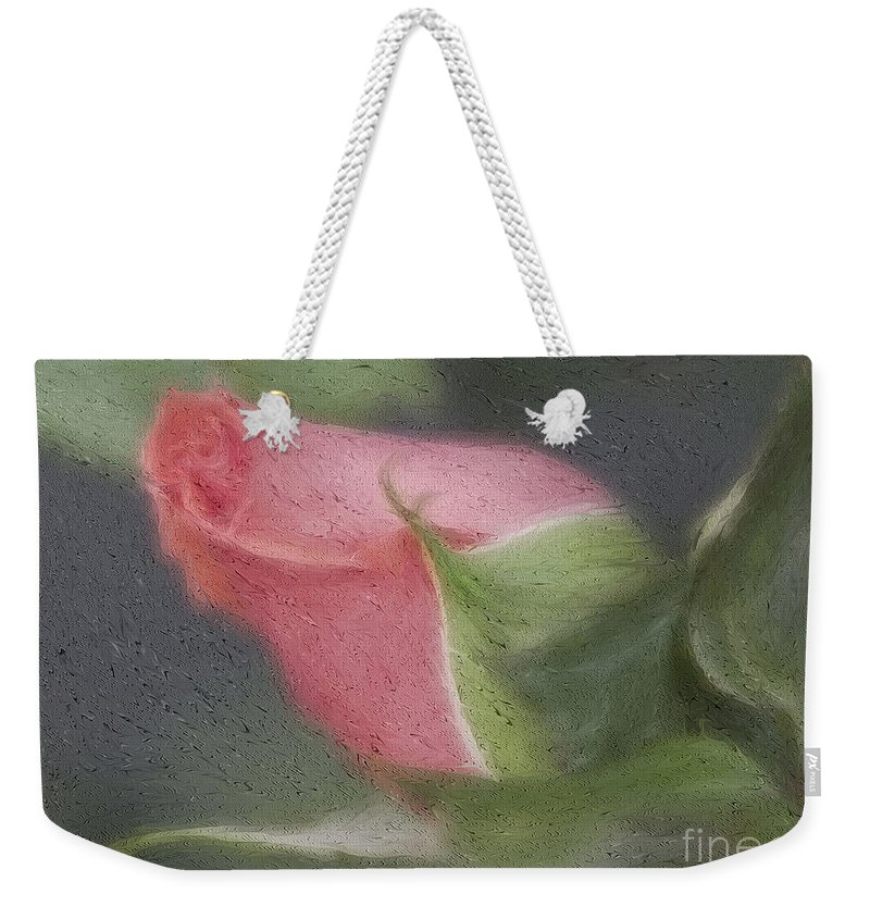 Rose Weekender Tote Bag featuring the photograph Rendition Of A Rose by Deborah Benoit