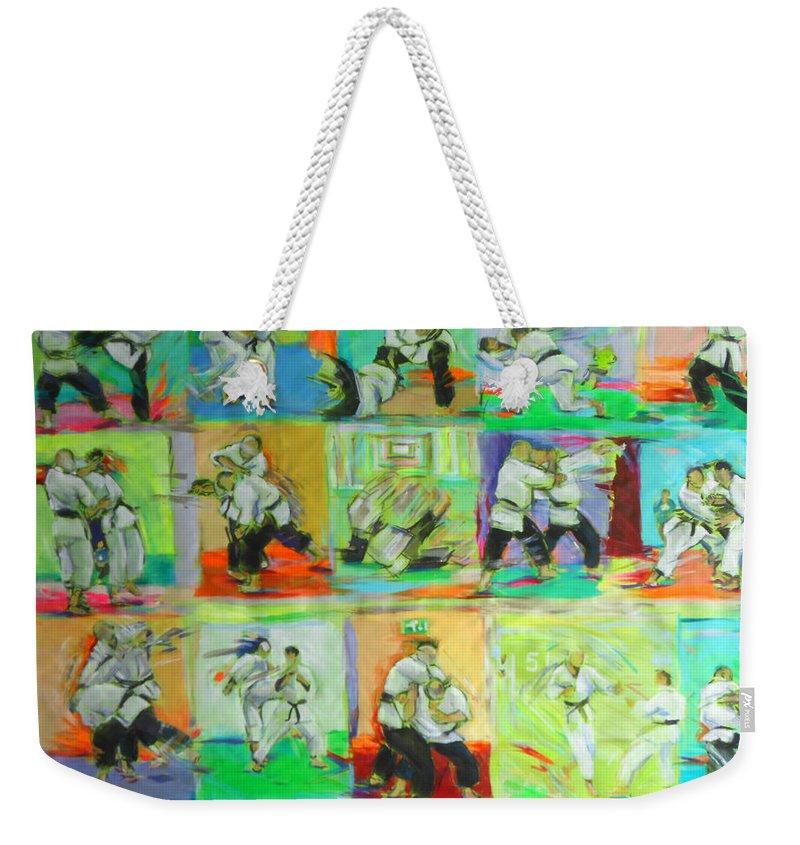 Wado Weekender Tote Bag featuring the painting Renraku by Lucia Hoogervorst