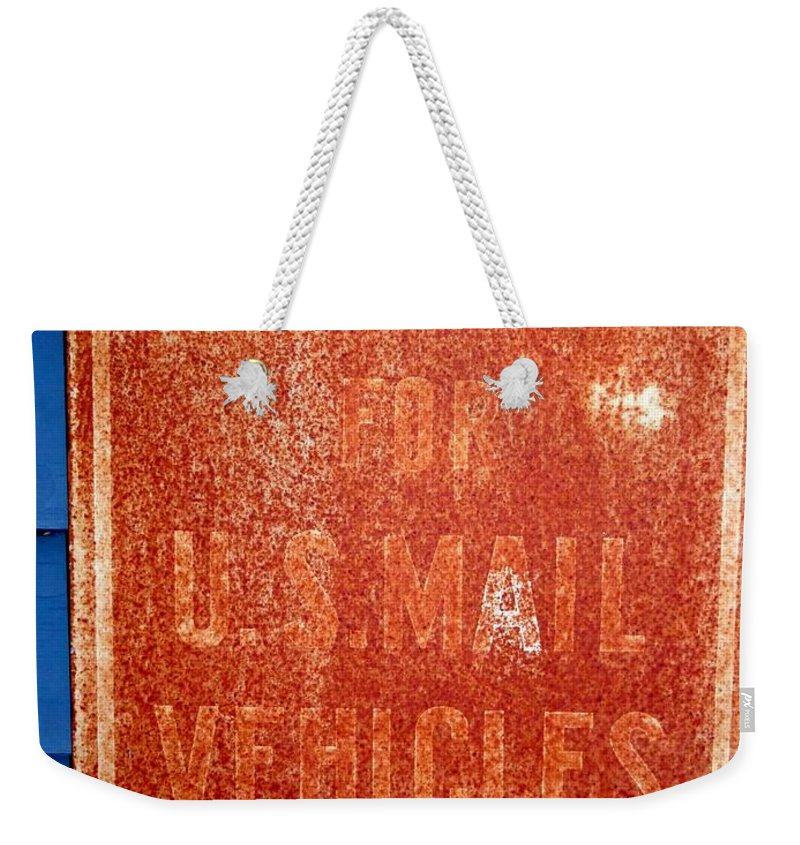 Signs Weekender Tote Bag featuring the photograph Reserved by Ed Weidman