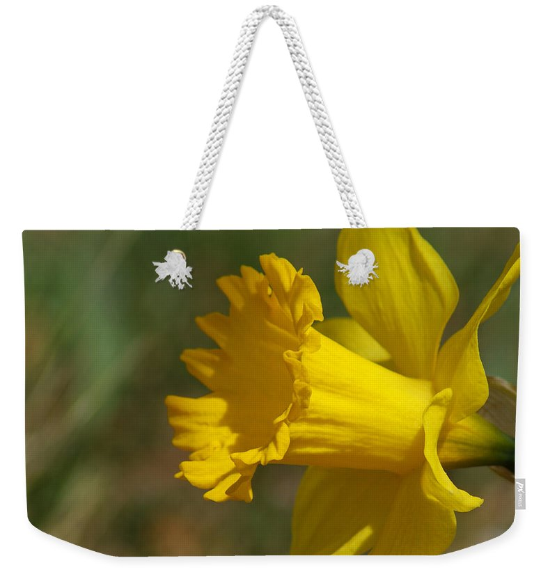 Flower Weekender Tote Bag featuring the photograph Rest In Peace Sherry Holder Hunt by Ernie Echols