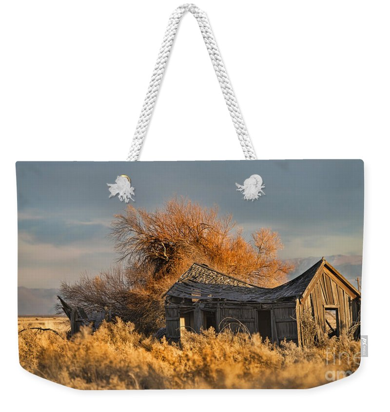 House Weekender Tote Bag featuring the photograph Retired And Forgotten by Dianne Phelps