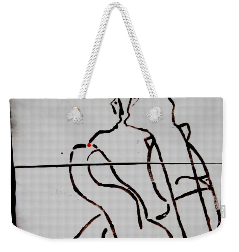 Jesus Weekender Tote Bag featuring the ceramic art Retro by Gloria Ssali